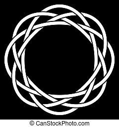 kör alakú, csomó