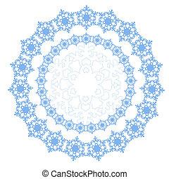 kör alakú, díszítés