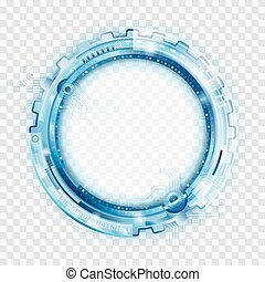 kör alakú, elvont, technológia, backgr