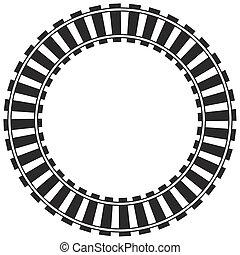 kör alakú, sín