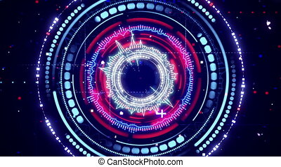 kör alakú, színkép, elemző, futuristic, loopable, élénkség