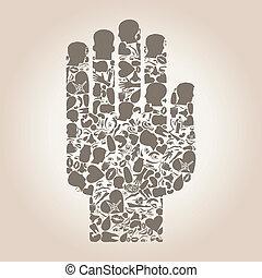 körperteil, hand