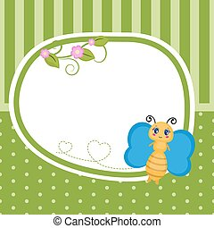 köszönés kártya, butterfly.