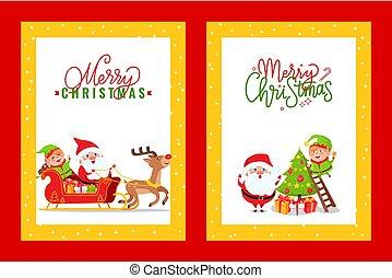 köszönés, karikatúra, kártya, daliák, holiday élénk