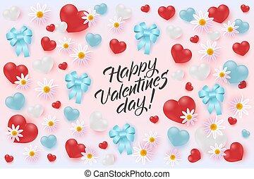 köszönés, kedves, flowers., hajóorr, piros, transzparens, nap, boldog