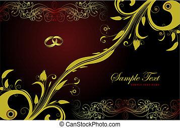 köszönés, szüret, valentine nap, vagy, esküvő, kártya