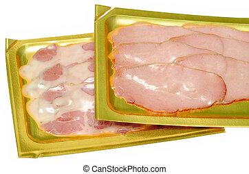 kött, packat
