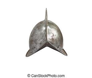 középkori, lovag, sisak