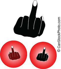 középső, finger2
