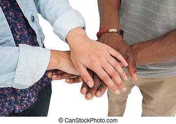 középső gerezd, közül, egy, párosít, noha, kezezés együtt