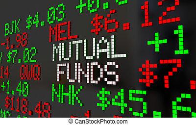 közös alapok, ábra, befektetés, tickers, részvény, összecsavaró, opciók, 3