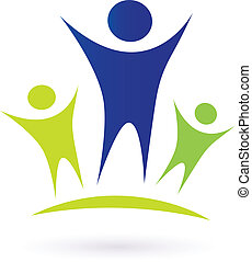 közösség, -, felnőtt, és, gyerekek