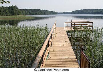 közel, a, tó