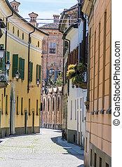 közelebb, utca, olaszország