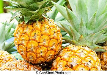 közelkép, ananász