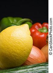 közelkép, citrom