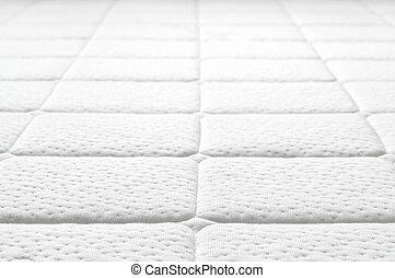 közelkép, fehér, texture., matrac