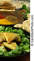 közelkép, közül, indian táplálék