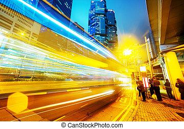 közlekedési lámpa, nyomoz, közül, modern ügy, város