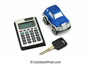 køb, afsætte, automobilen
