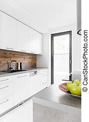 køkken, ind, nye, luksus til hjem