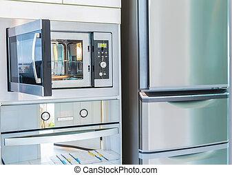 køkken, interior, moderne