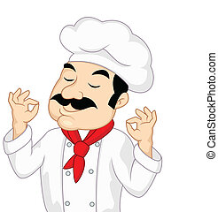 køkkenchef, cartoon