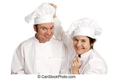 køkkenchef, series, -, venskab