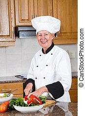 køkkenchef, tillav, salat