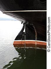 køl, i, hav, skib