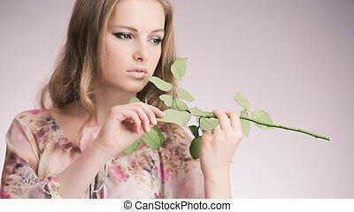 køn pige, rose