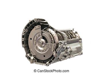 køretøj, automobilen, indgreb, roterende, clutch, close-up, inderside, motor
