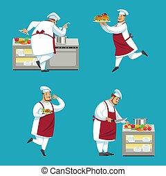 küchenchef, charaktere, satz