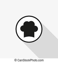 küchenchef, kappe, vektor, ikone