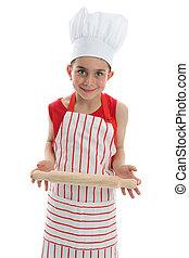 küchenchef, koch, oder