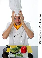 küchenchef, verwirrt, bestandteile