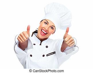 küchenchef, woman.