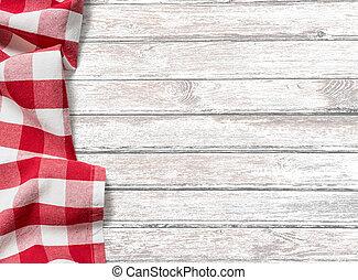küchentisch, hintergrund, mit, rotes , picknick, tuch