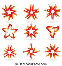 különböző, állhatatos, #15, csillaggal díszít, ikonok