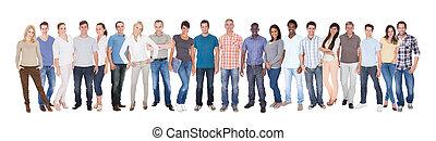különböző, emberek in, alkalmi munkások