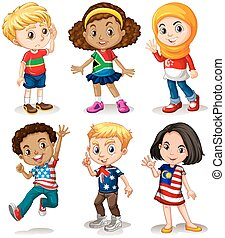 különböző, gyerekek, országok