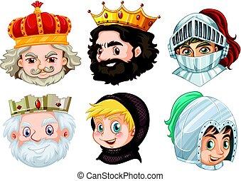 különböző, hím, fairytale, betűk