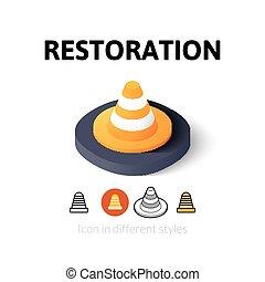 különböző, restaurálás, mód, ikon