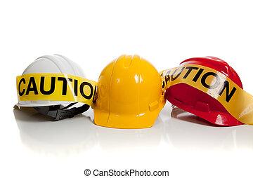 különféle, nehéz kalap, képben látható, egy, white háttér