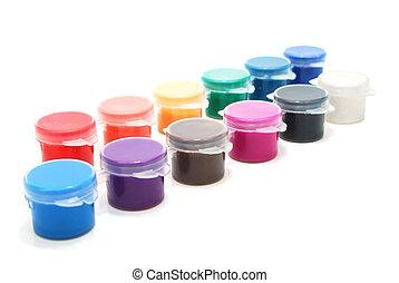 különféle, tinta, konzervál