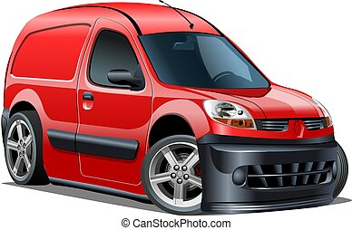 külső marker, furgon, elszigetelt, felszabadítás, vektor, háttér, fehér, karikatúra