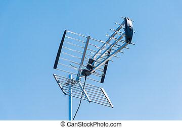 külső, televízió antenna