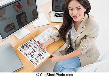 künstler, buero, weibliche , computer, buero, sitzen