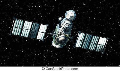 künstlich, satellit