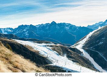 künstlich, schneien ski, bereich